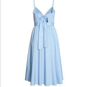 H&M Light Blue Polka Dot Midi Dress